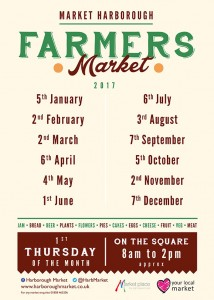Harborough farmers market dates for 2017