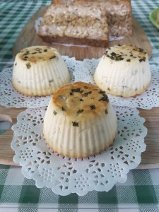 Baked almond & chive cheese